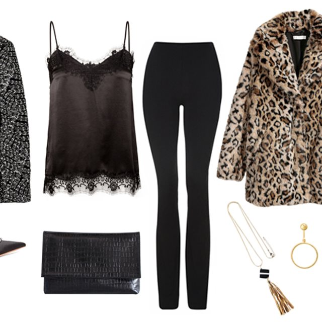 Brillo y un toque animal para el 'look' de fiesta perfecto