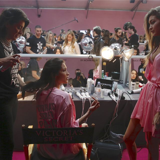 El 'backstage' de Victoria's Secret
