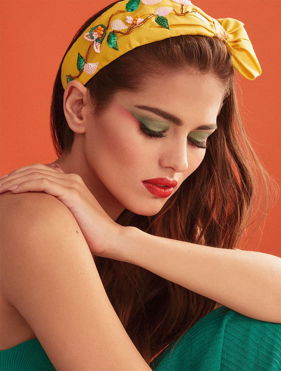 Maquillaje para vestido verde lima