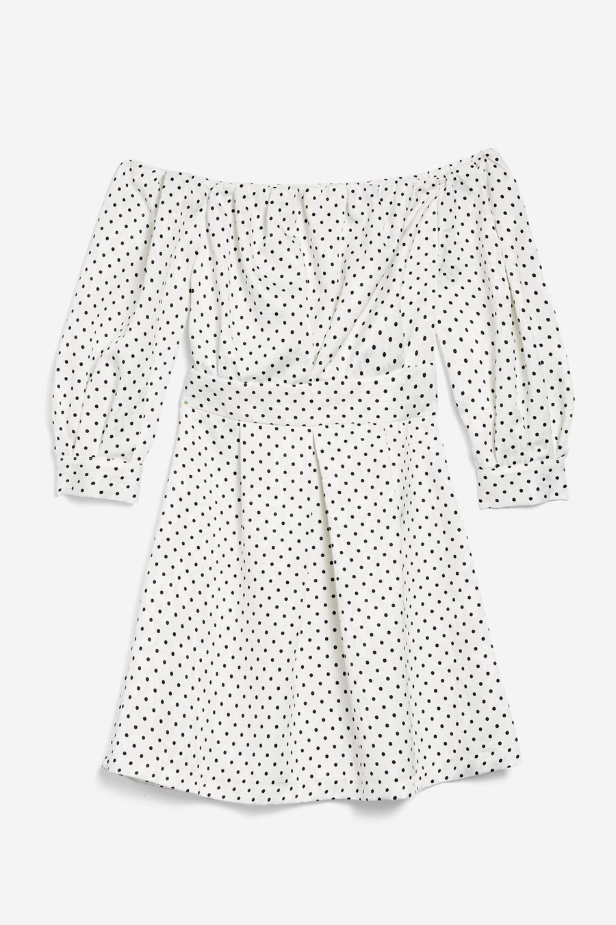 Vestido lunares Topshop con escote 'off the shoulders'