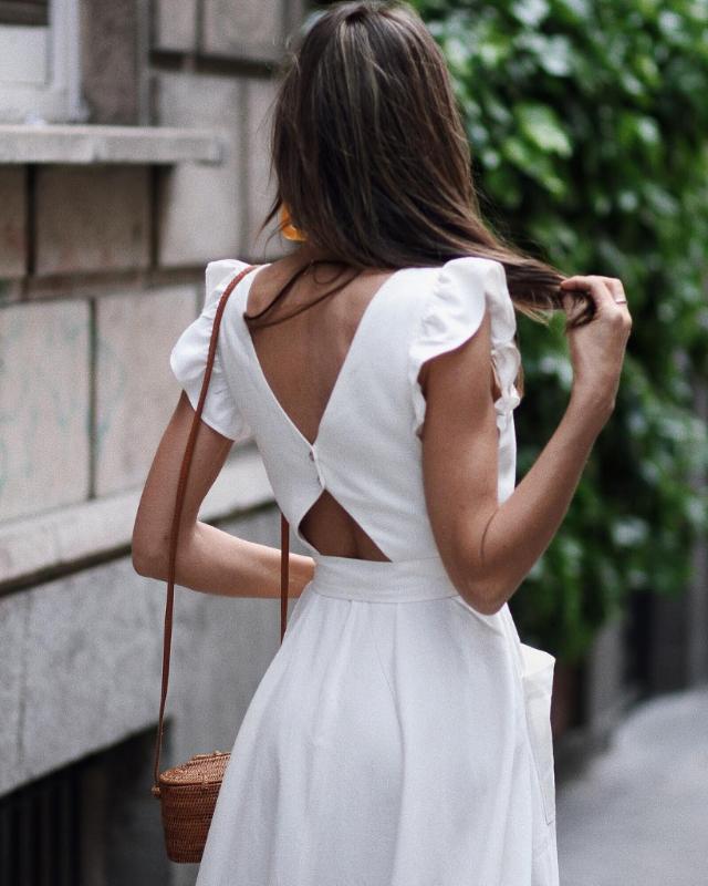 Vestidos largos con espalda descubierta 2019