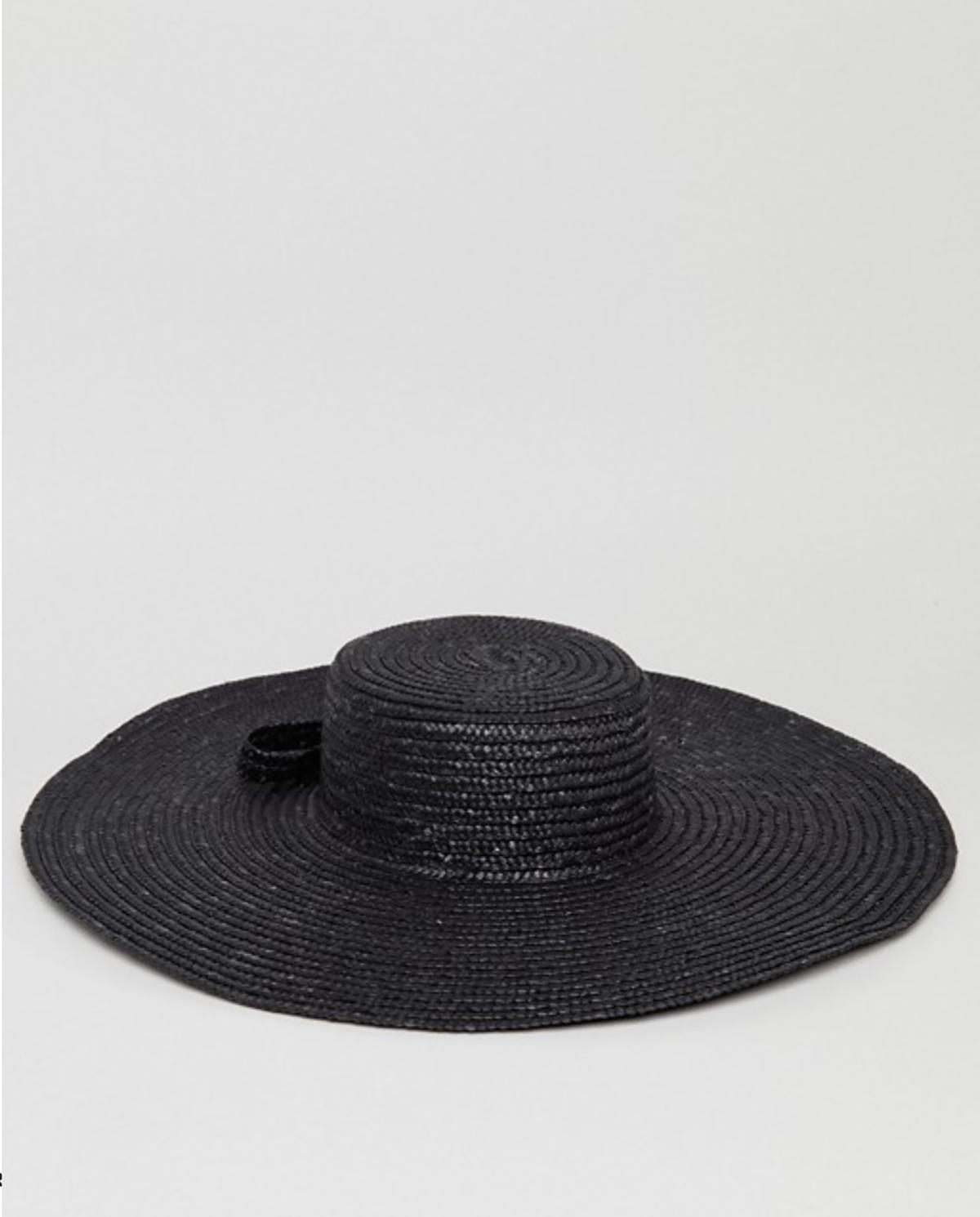 asos-sombrero-paja-natural-xl-grande-negro. Sombrero negro d3f62ec114e2