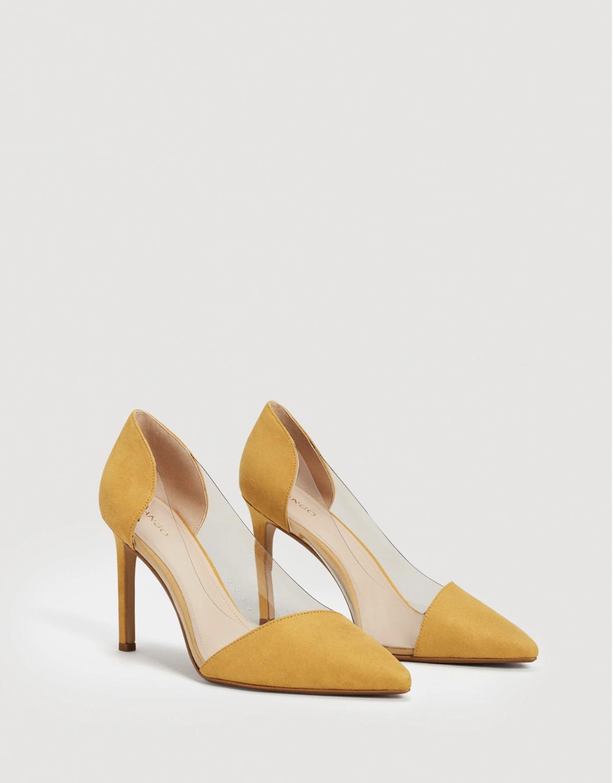 mango-rebajas-2018-tacones-amarillos. Zapatos de tacón mostaza f64aa4849b7f