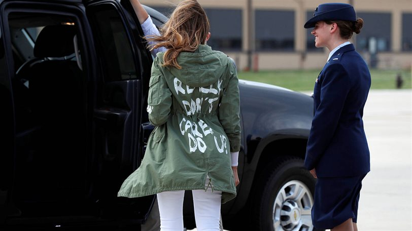 parka i dont care do you de melania trump