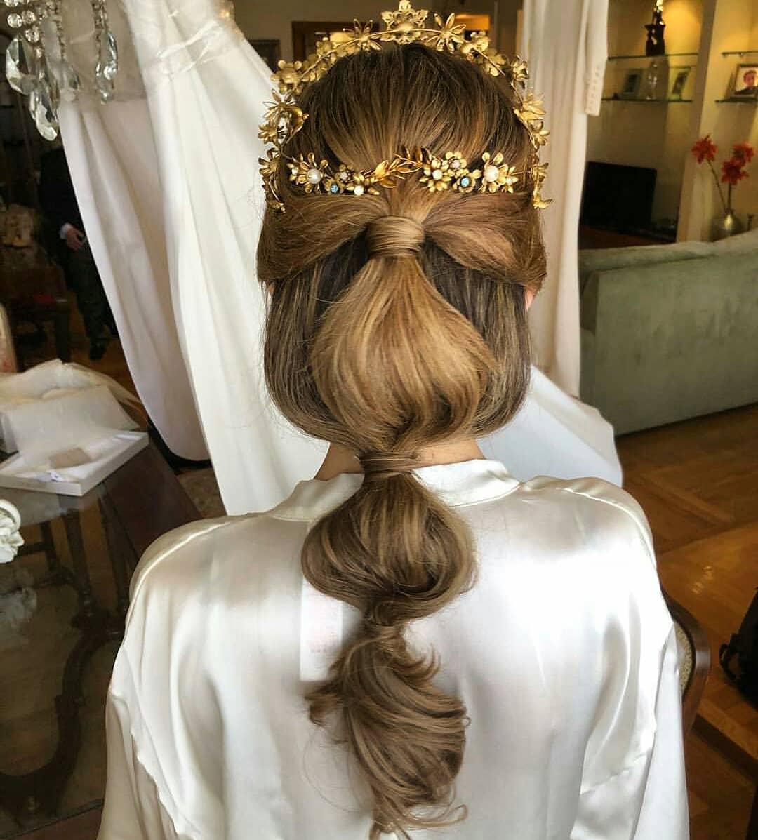Recogido desenfadado novia