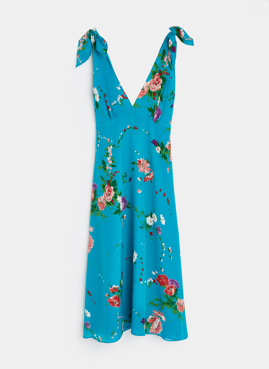 Vestido azul marino uterque
