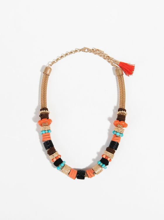 152cefaf4bef Collares dorados con naranja. Dorado  los collares de moda de la temporada