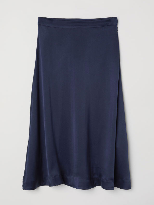e52a1ec05e falda-seda-azul-marino. Un básico para tu fondo de armario