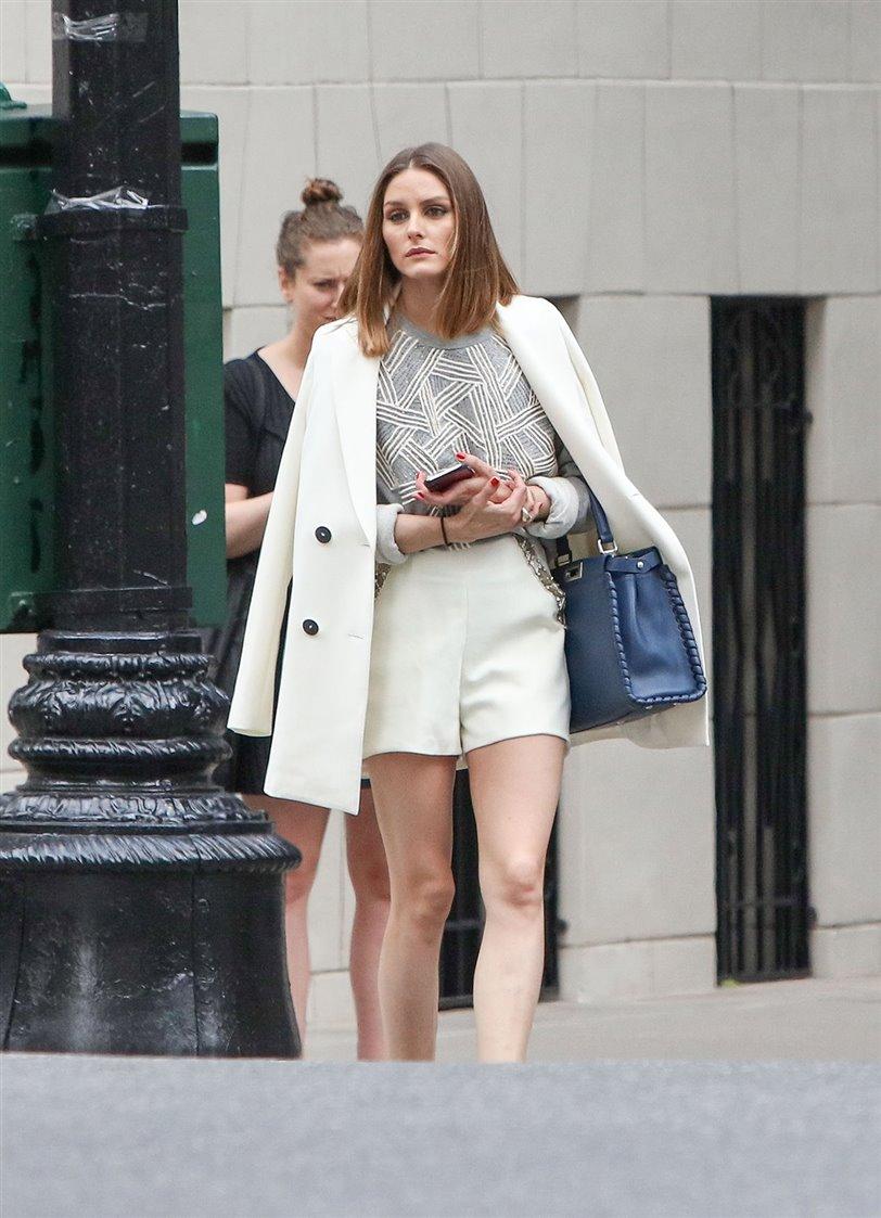El conjunto blanco de traje de Olivia Palermo