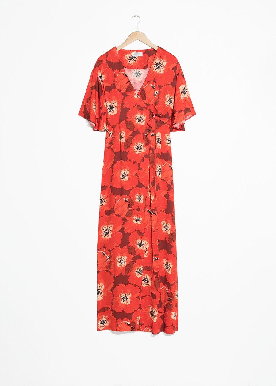 7dc98c6e6 vestido largo rojo   Other Stories. A todo color