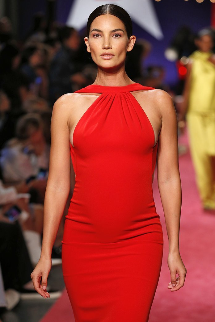 lily aldridge embarazada desfile nueva york fashion week