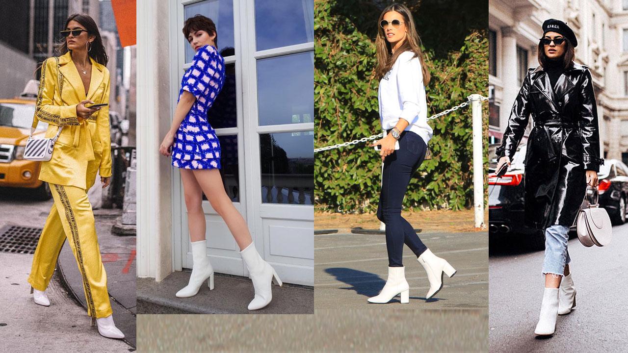 Botines blancos  los zapatos de mujer del otoño invierno 2018 19 - InStyle f42f2492ab257