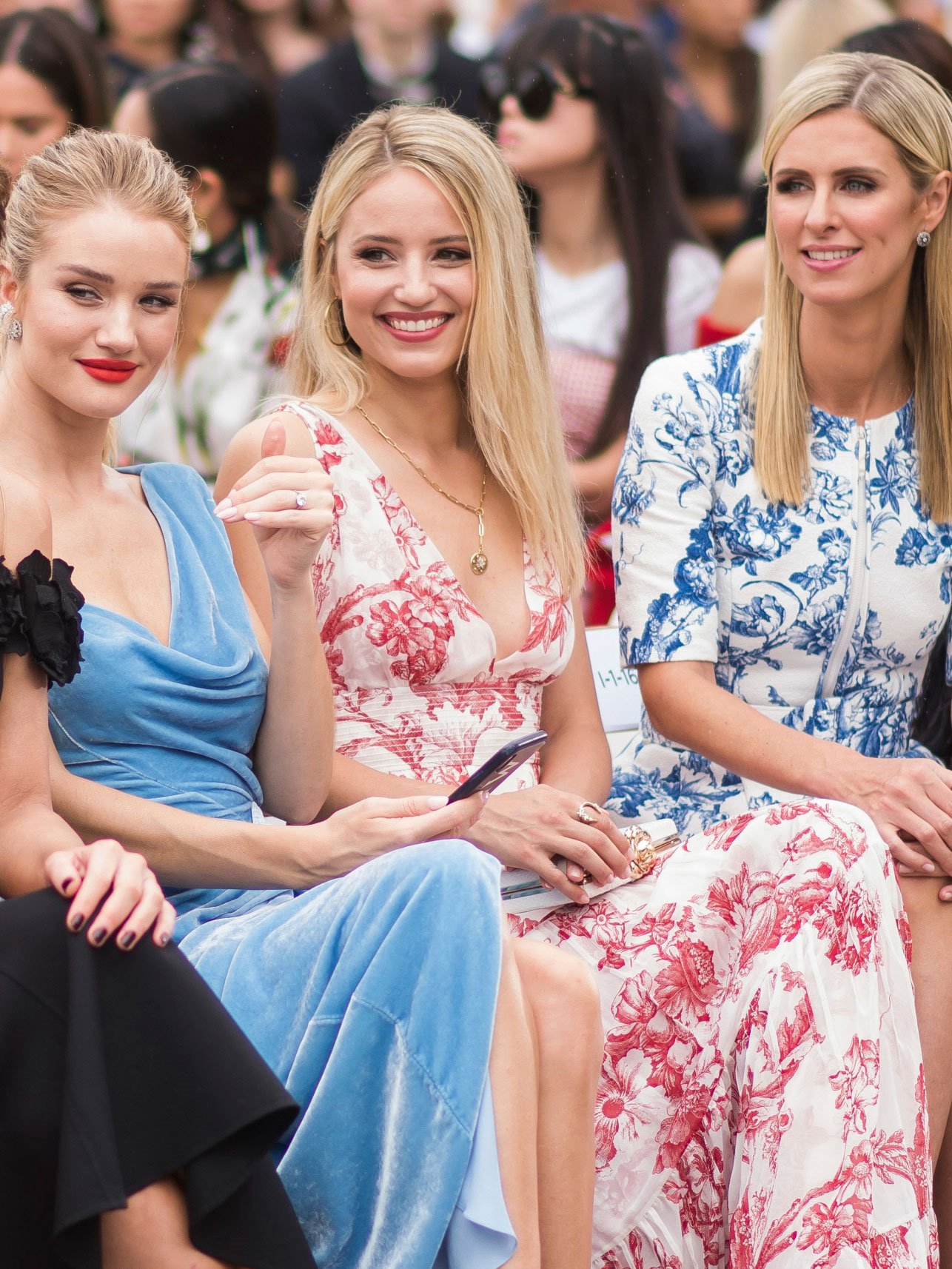 Rosie Huntington Whiteley, Dianna Agron y Nicky Hilton