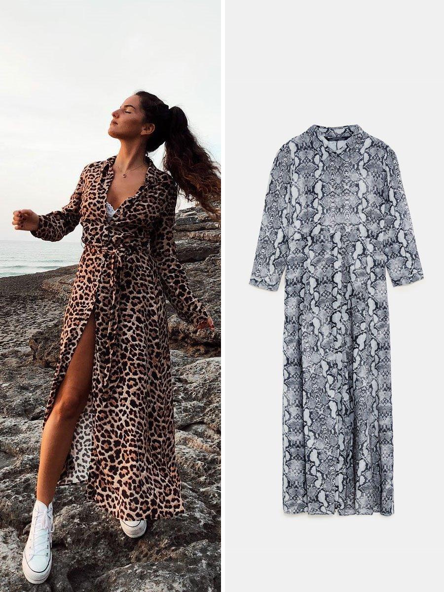 c20b33da7 Maria Soriano vestido animal print. Vestido con  animal print