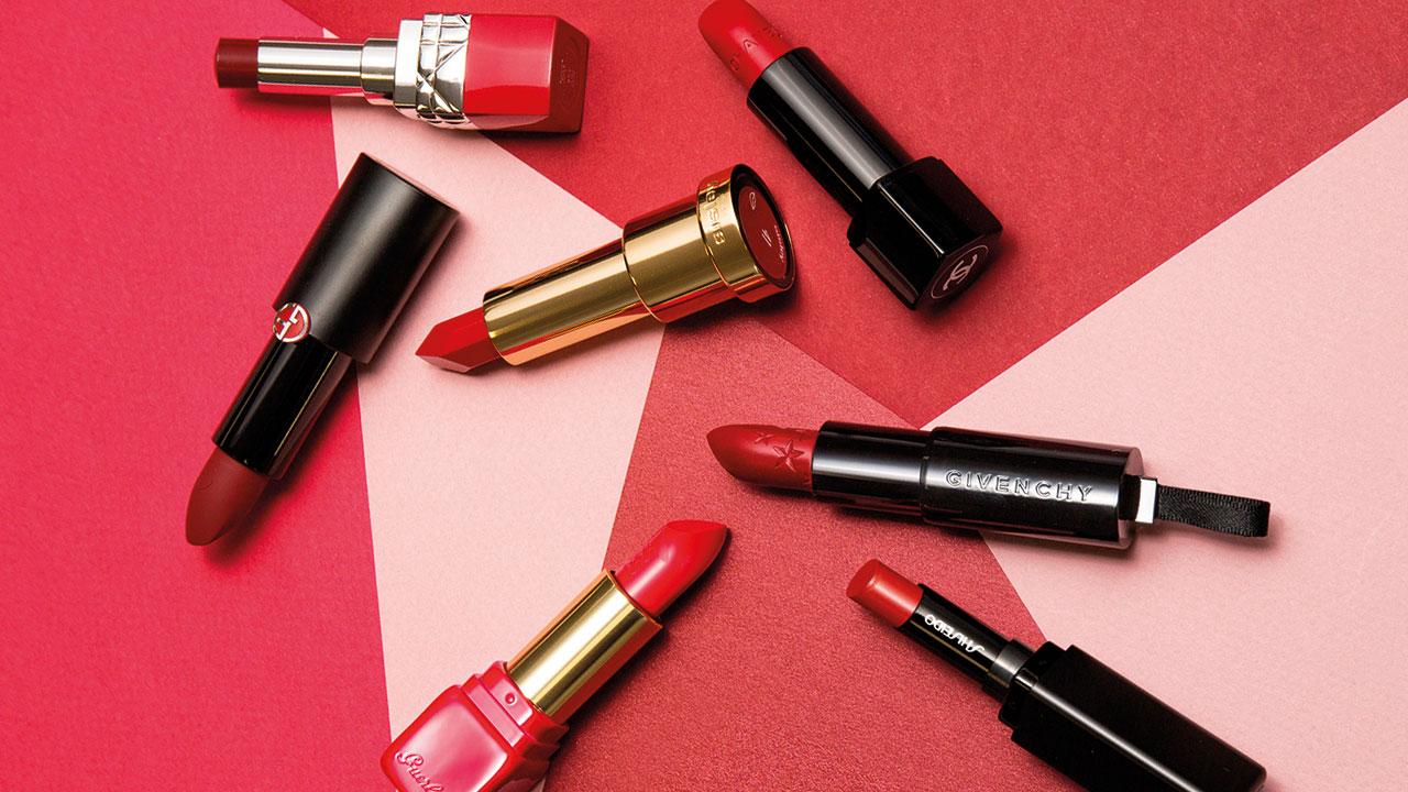 Labios rojos: pintalabios invierno compras