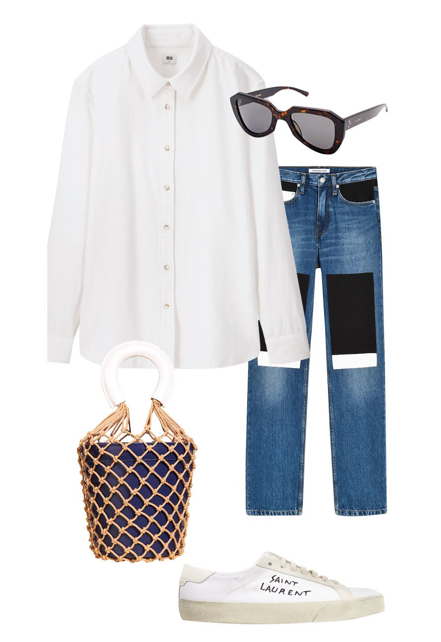 Camisa blanca: look casual