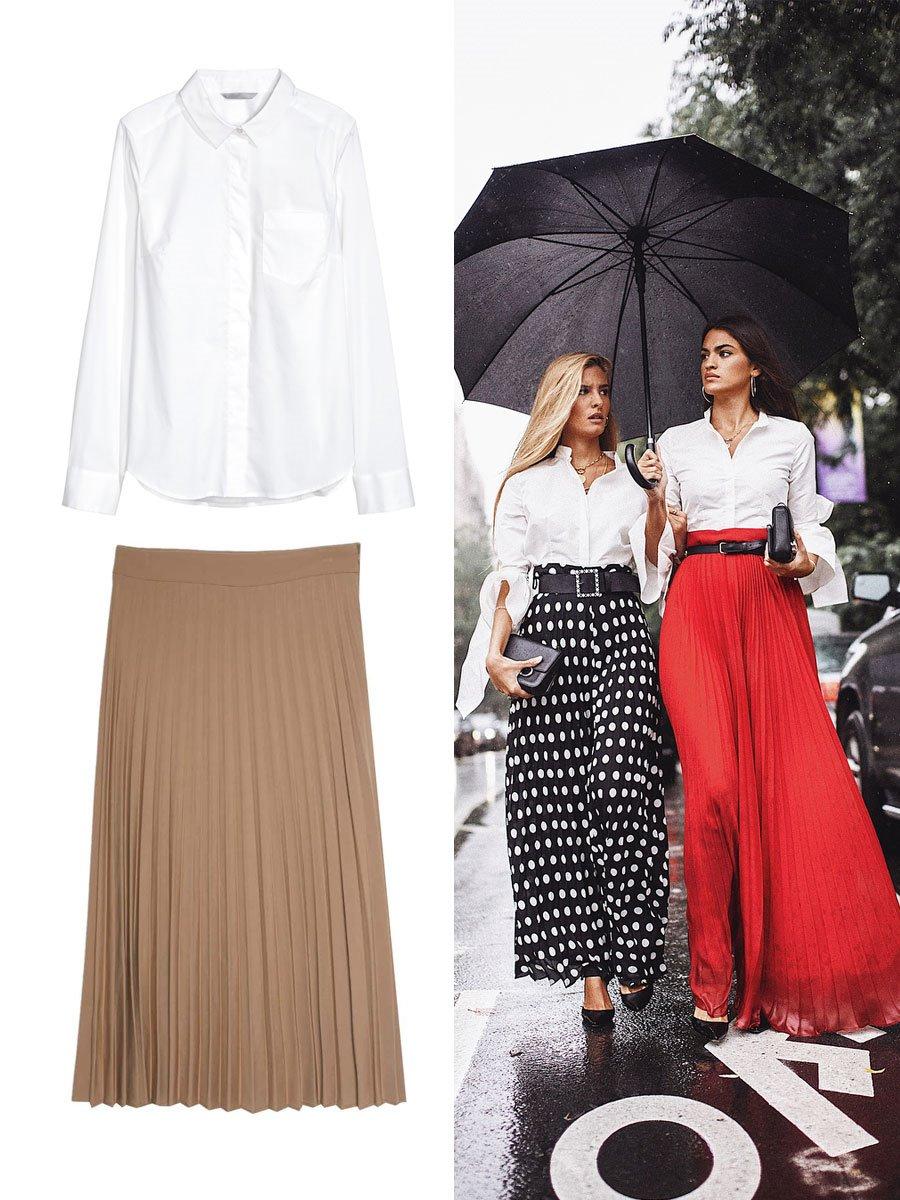 f0393f835d falda-y-camisa-estiliza. Una falda larga con mucho estilo