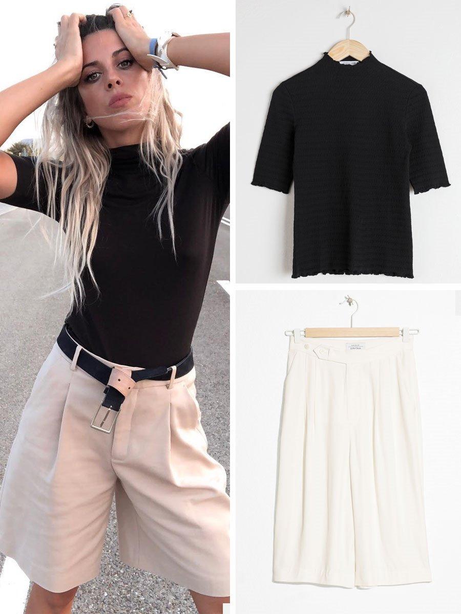 71413758ff jersey-negro-y-pantalon-ancho-estiliza. La combinación de colores