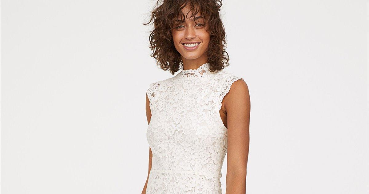 la colección de vestidos de novia baratos de h&m es muy bonita - instyle