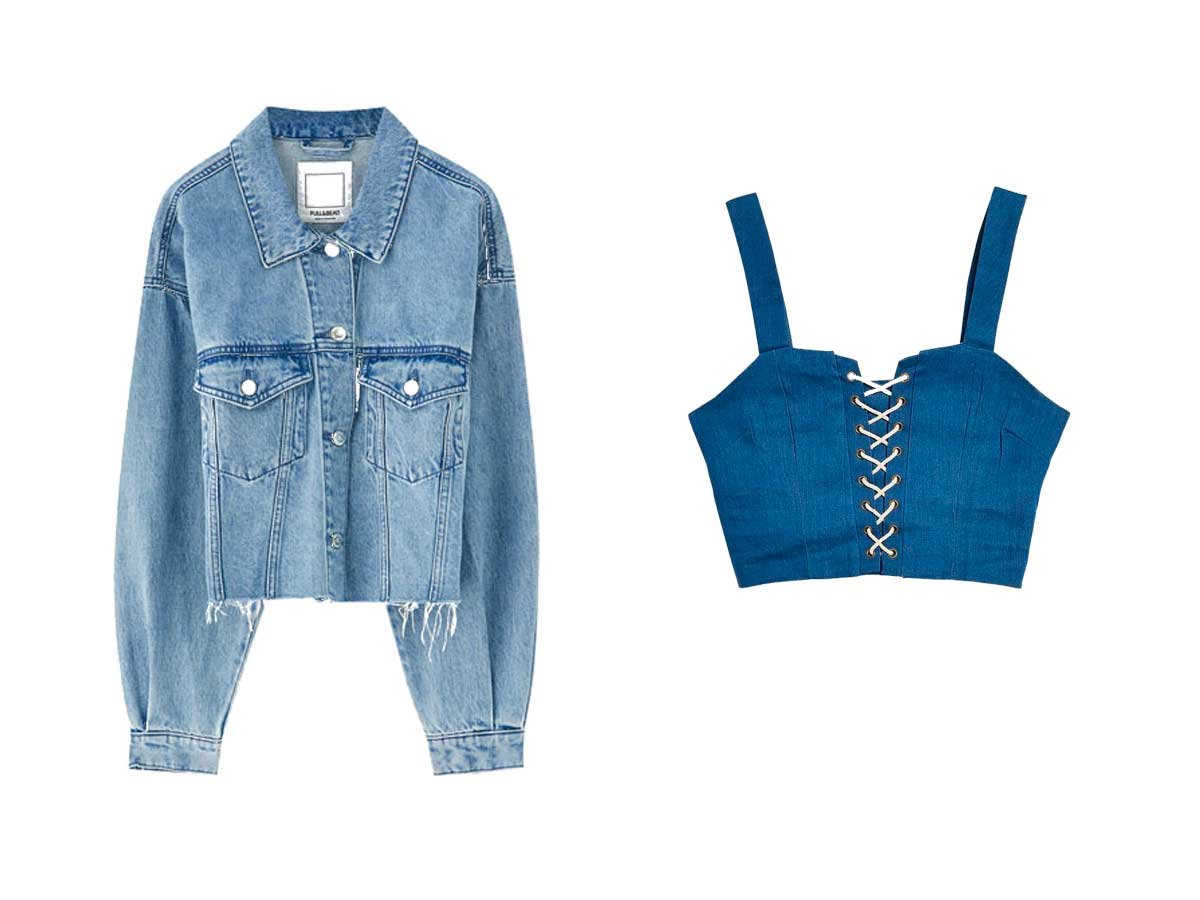 look-denim-vaquero-crop. El top crop con el que imitar el look de Kendall Jenner