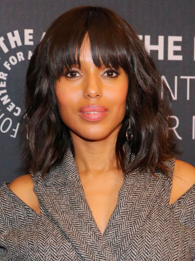 flequillo-kerry-cara. Kerry Washington: frente alargada
