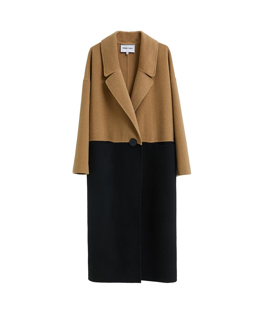 Bimba y lola otoño 2018 abrigo lana bicolor. El bicolor llega a tu abrigo bdeb775e706