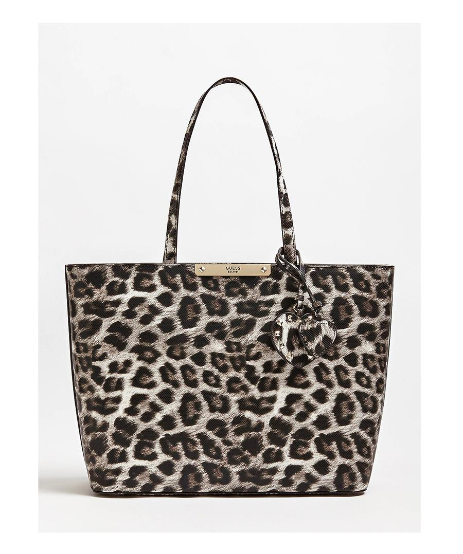 animal print bolso Guess. Shopper bag con animal print de Guess