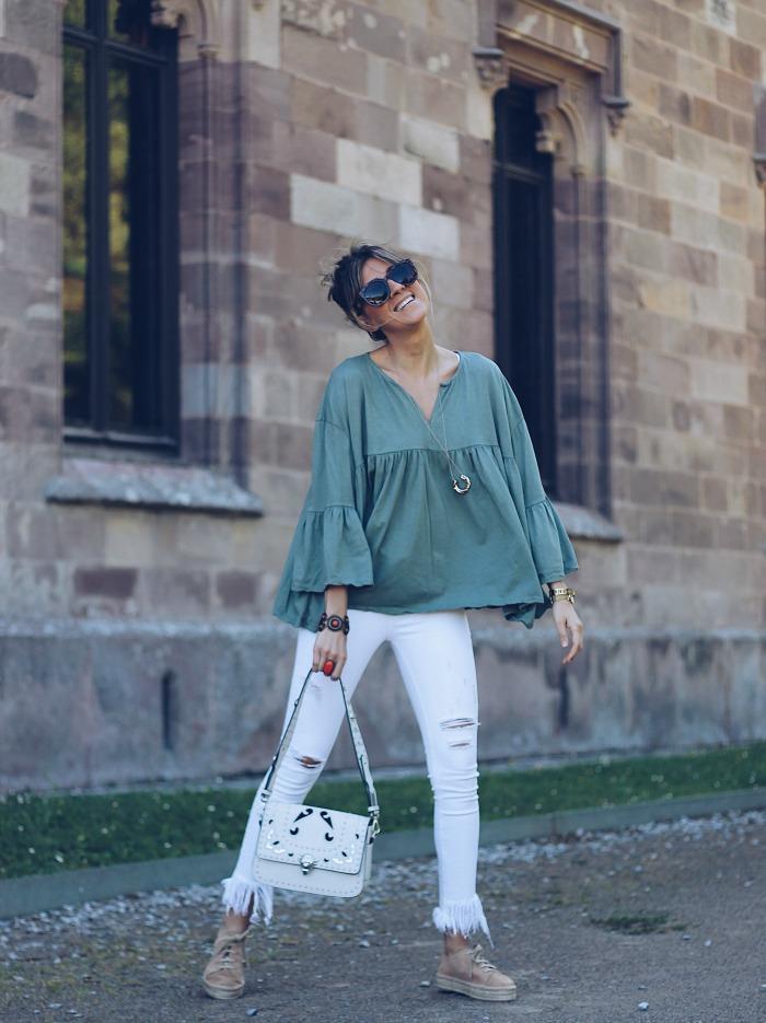Cómo combinar un pantalón blanco mujer, Ane Hernando, por