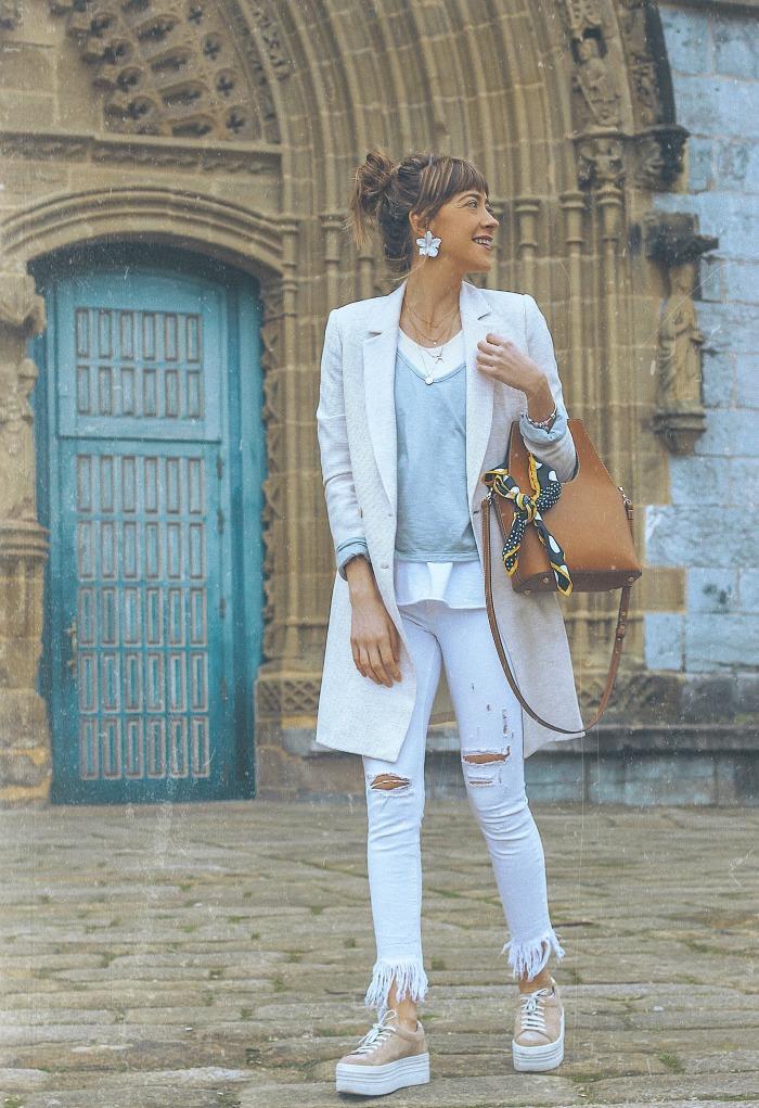 Ane Mujer Combinar Cómo Hernando Por 'look Pantalón Blanco And Un wZvfxnqOa