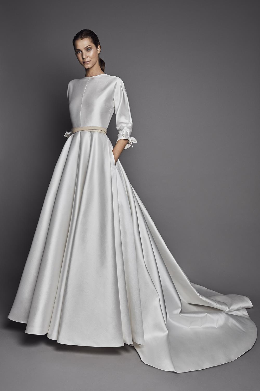 Vestidos novia dos piezas 2019