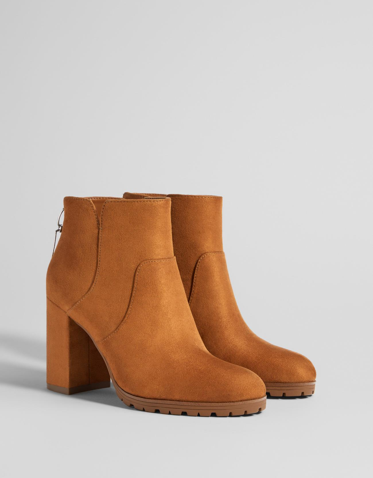 booties-woman-bershka.  Heel ankle boots