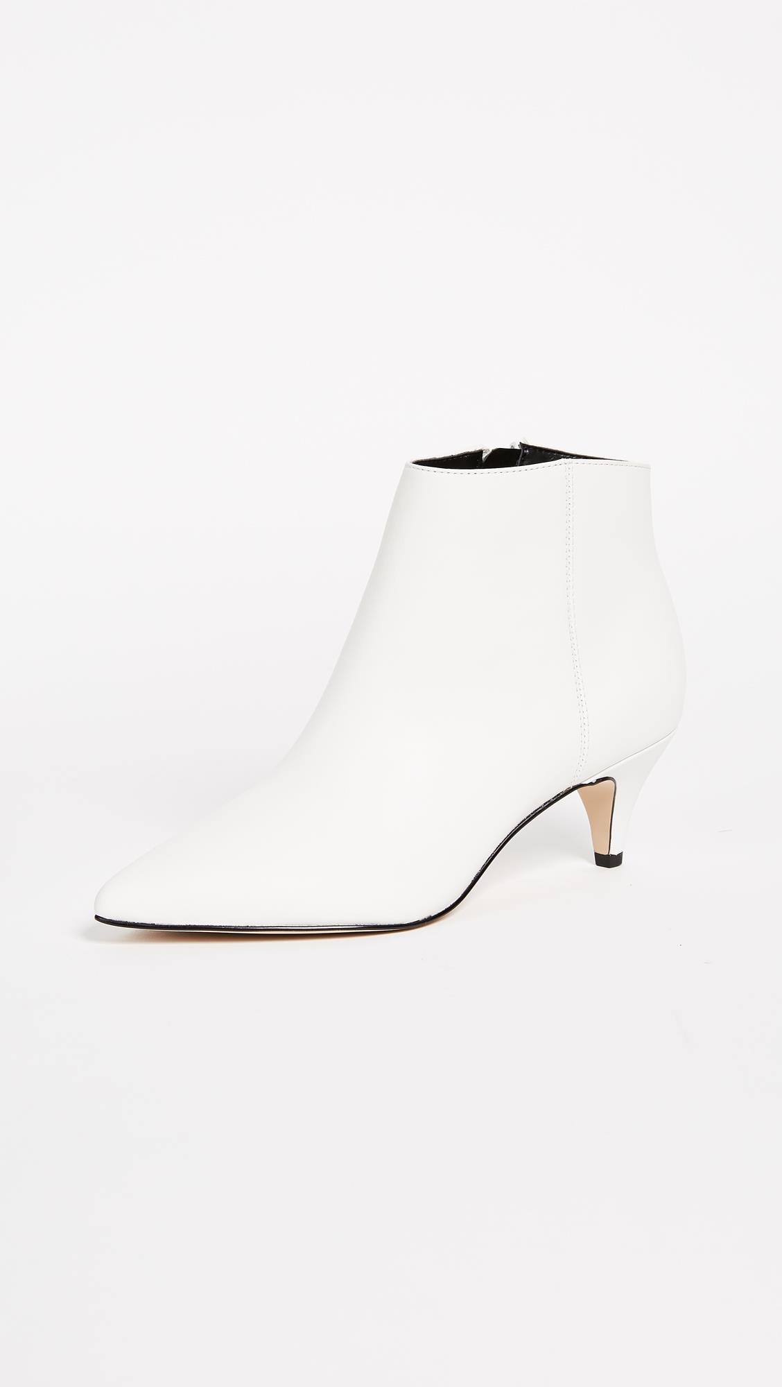booties-woman-sam-edelman.  White heel ankle boots