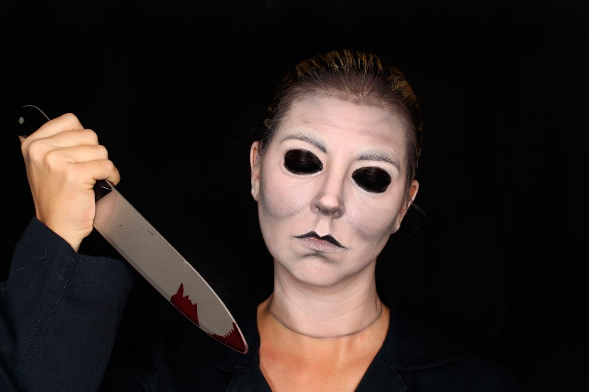 tutorial-maquillaje-halloween-Michael-Myers. Michael Myers
