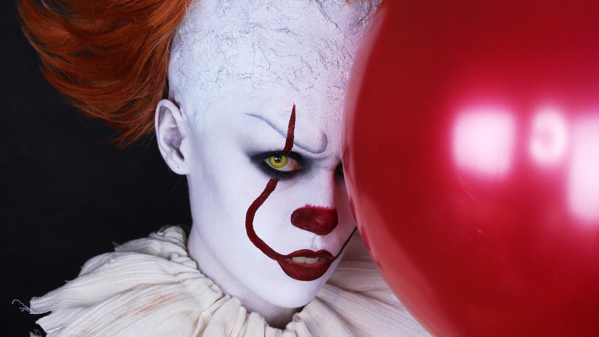 tutorial-maquillaje-halloween-Pennywise. Pennywise