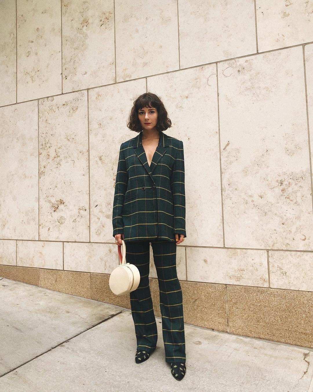 alyssainthecity-pantalones-dos-piezas-cuadros-tendencia-otoño. Pantalones de 19855380a2b0
