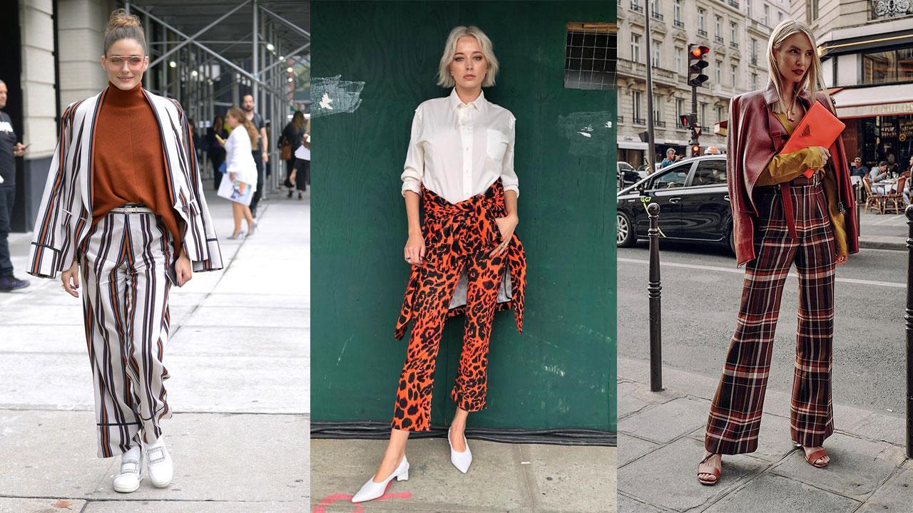 22bfbd4127 Pantalones de mujer estampados más de moda del otoño-invierno 2018 19 -  InStyle