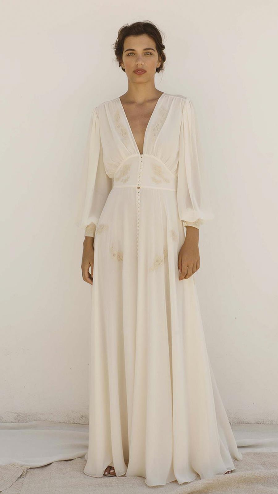8e6a4da17 Vestido de novia de segunda mano vintage de L Arca en Barcelona. Los  vestidos