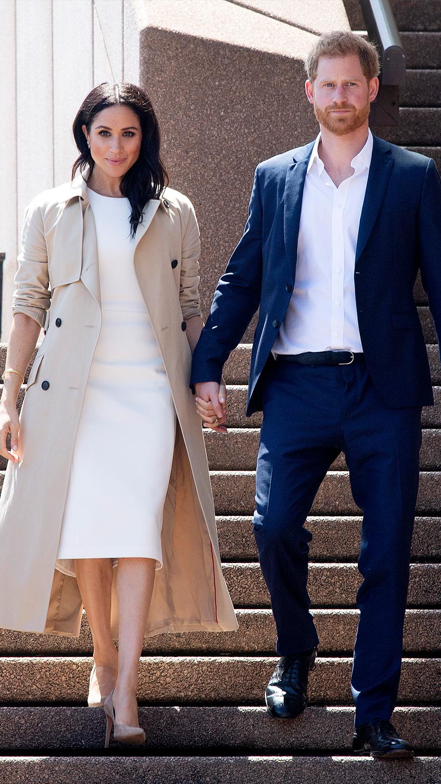 Meghan Markle y su nuevo 'look' premamá en Australia InStyle