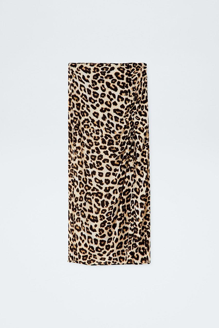 ce1f327390 falda-larga-leopardo-pull. Falda de leopardo midi