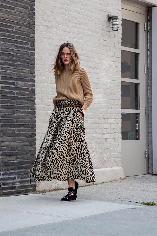 18b2938769 si-falda-moda-leopardo-olivia-palermo. Cómo llevar la falda