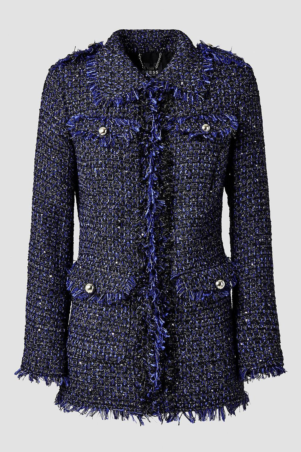 chaqueta-guess-tweed-invitada-boda. De tweed