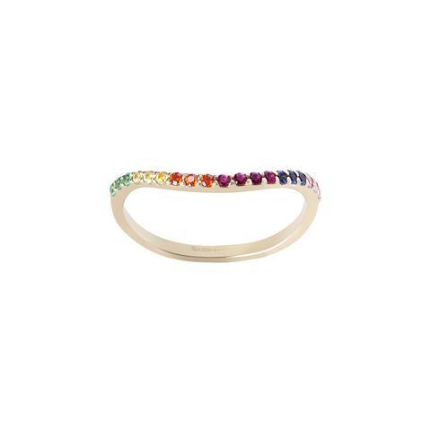 WILHELMINA GARCIA. Anillo Rainbow multicolor de Whilhemina García
