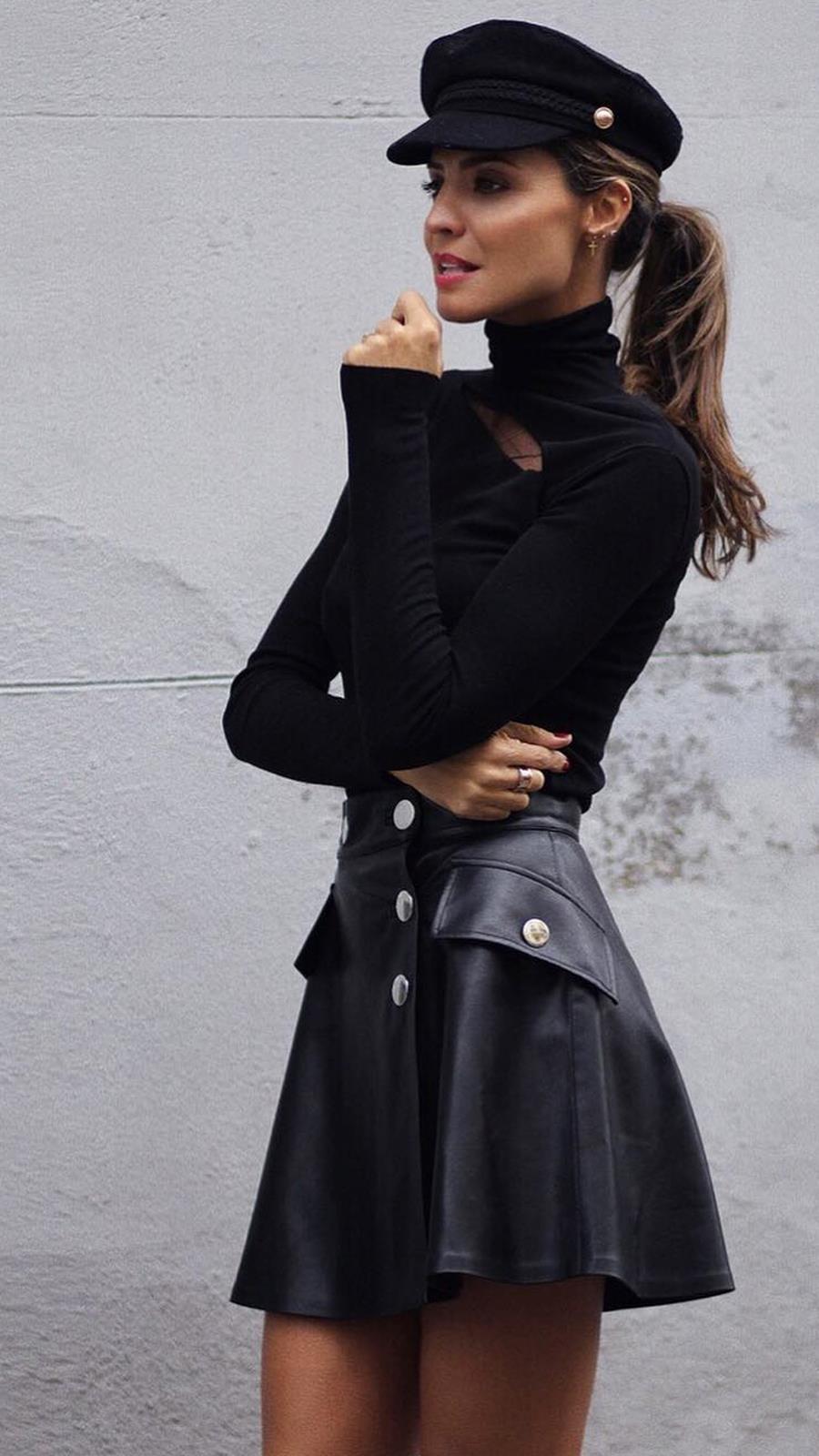 9b40f2b3 Faldas de cuero: cómo combinar y dónde comprar las más sexies del ...