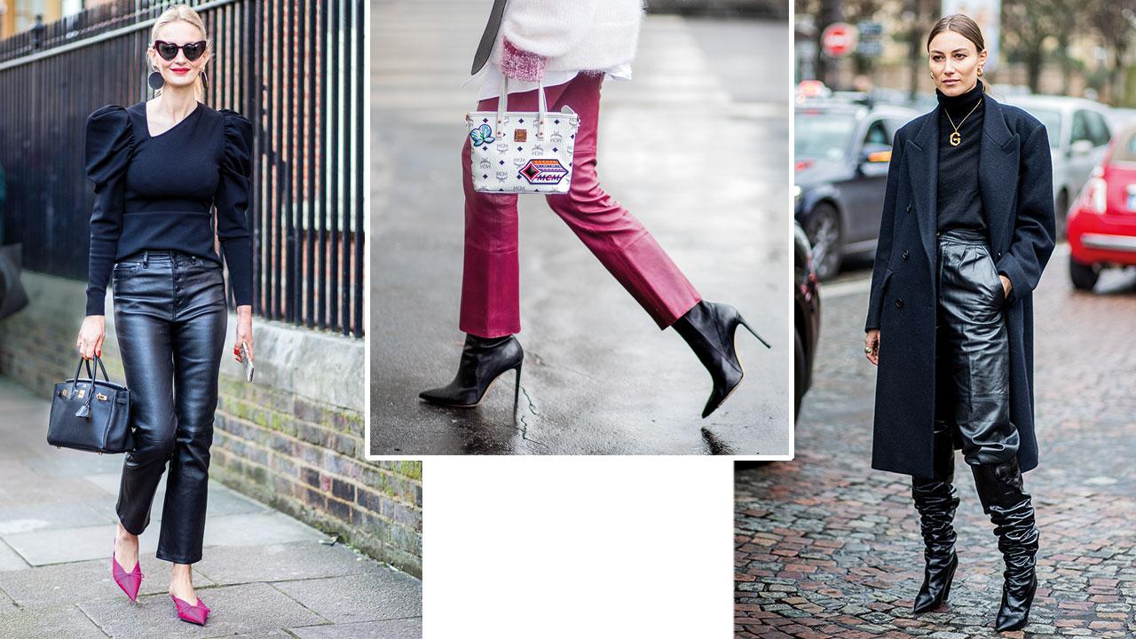 5c2cac1fb Pantalones de cuero mujer  cómo combinarlos con mucho estilo - InStyle