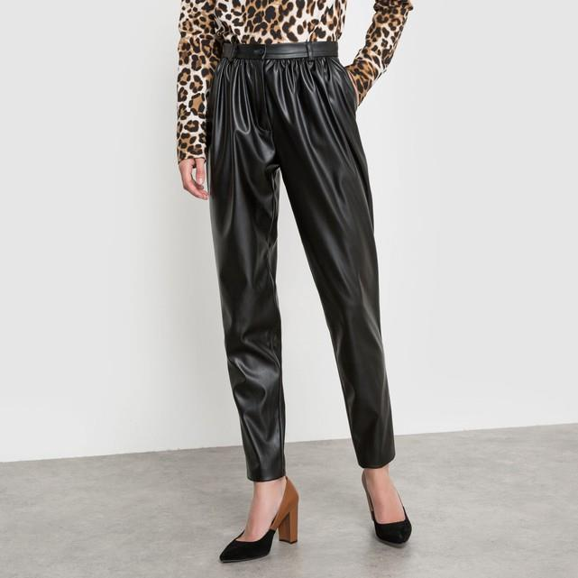 971f113312 laredoute ISABELLE THOMAS X LA REDOUTE Pantalón de piel sintética. De piel  sintética y cintura