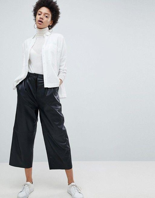Pantalones De Cuero Mujer Como Combinarlos Con Mucho Estilo