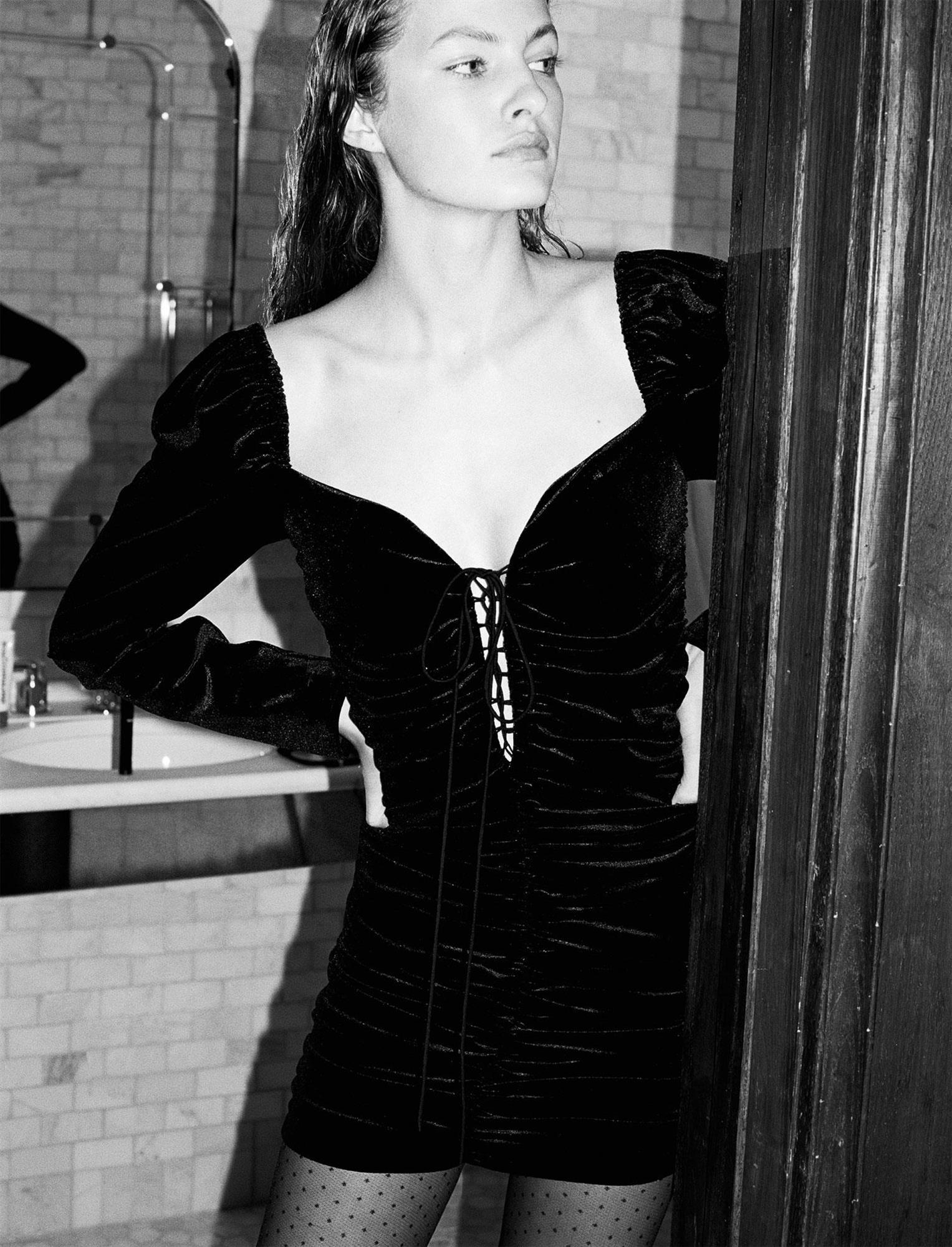 fc65bfd991 Vestido de terciopelo de Zara. Los vestidos de fiesta que mejor quedan son  los de
