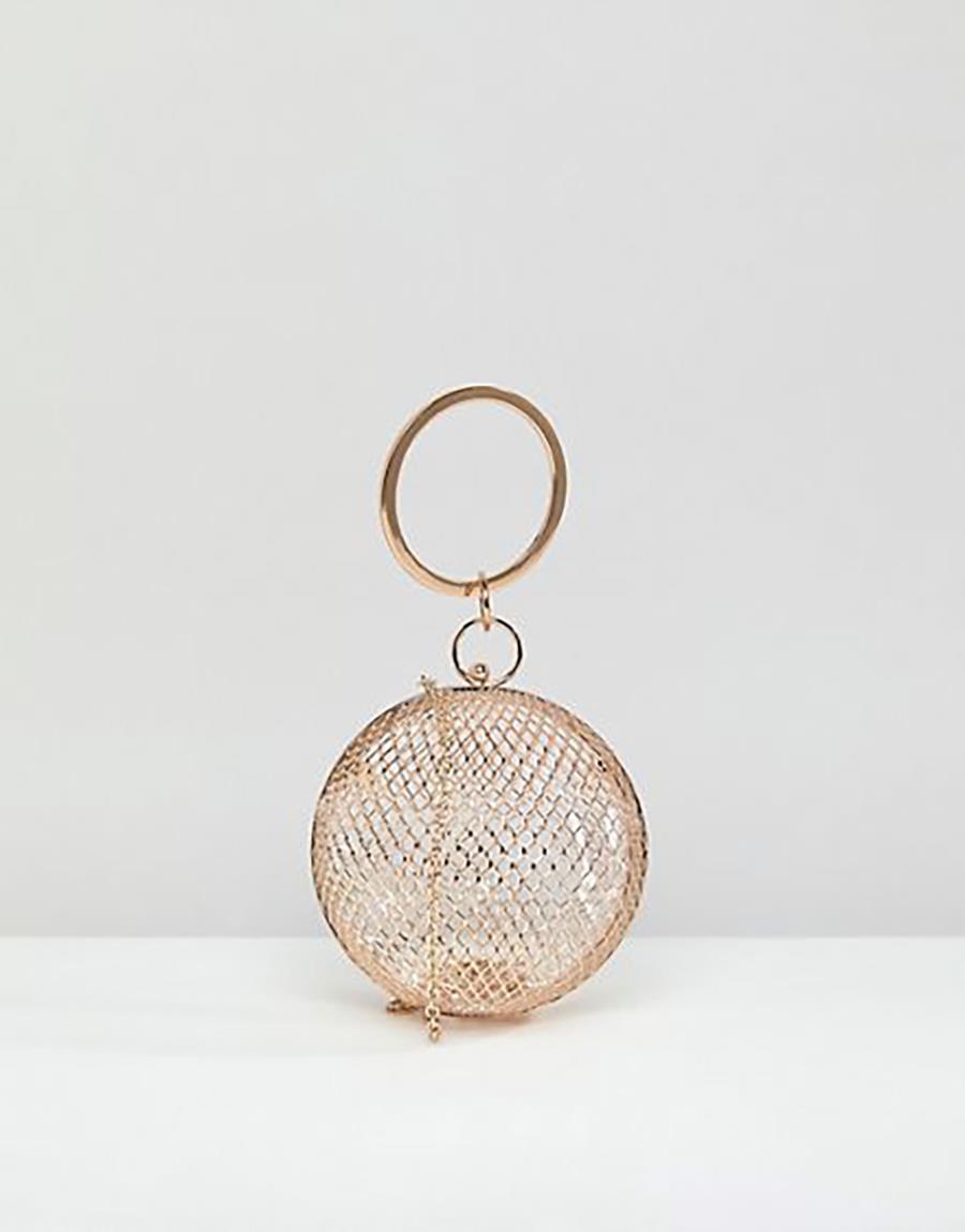 b1702f22e6f asos-bolso-aro. Bolso de fiesta tipo esfera con rejilla metalizada
