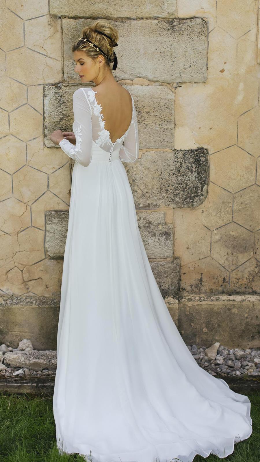 7fce0c671 Vestido de novia Eloisa de Ohqueluna. Vestido de novia de Ohqueluna