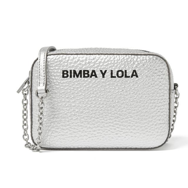 ba578843b68cb Bolso bandolera pequeño con cadena de piel De Bimba y Lola (124 €) .